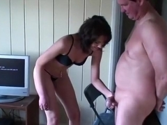 Overbearing wife cock crushing and ballbusting (With behind the scenes)