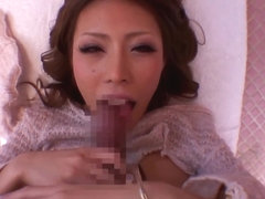 Haruka Sanada Big titted Asian doll gets hard dick ride