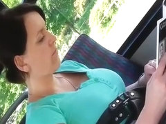 Candid Big Tits on Bus