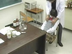 Big-titted Japanese teen got her sweet mouth fucked