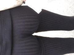 Nice Colombian with see thru black leggings