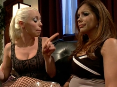Amazing fetish, lesbian xxx scene with incredible pornstars Francesca Le and Lorelei Lee from Whip.
