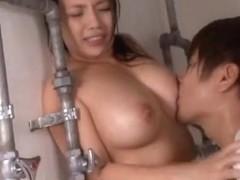 Sexy teacher Mako Oda teases her naughty students