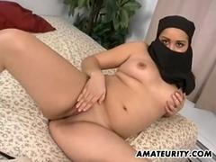 Arab girlfriend sucks and fucks with facial