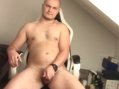 Casual jerking before gym, poor cock
