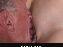 Young blonde tease and fuck her older hubby