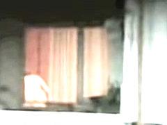 Horny neighbor nude and voyeured through window