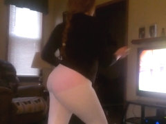 gf's voyeured ass exercising leggings vpl 2
