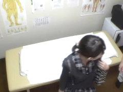 Busty skinny Japanese gets fucked in voyeur massage video