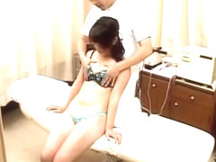 Asian teen fucked hard during erotic massage session