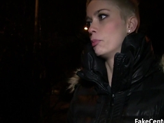Short haired blonde fucked outdoors
