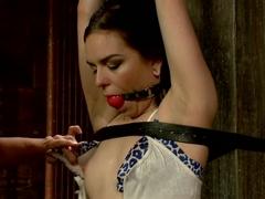 Horny bdsm, lesbian xxx clip with crazy pornstar Juliette March from Whippedass