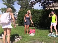 Incredible pornstar Sara Coul in best outdoor, blowjob sex clip