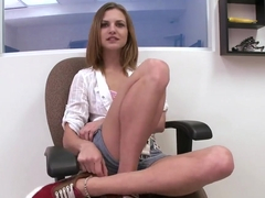 facial fest with beautiful blonde teen Kasey Chase.