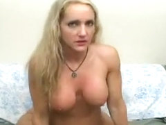 Blond Housewife Bangs Around