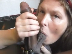 Mature swallowing cum