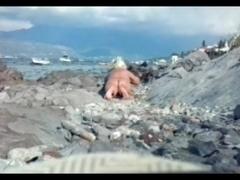 dutch bosnian granny on the beach