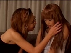 Mature Japanese dyke seduces a young broad