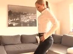 German girl fucked on coach
