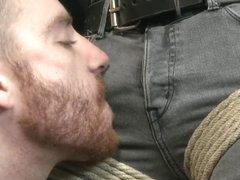 Hot rocker dude oozes pre cum as hes ass fucked and edged