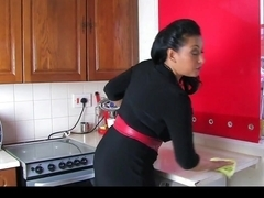 Donna Ambrose AKA Danica Collins - Kitchen quickie