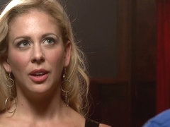 Gorgeous Big Tit Blonde Gets Fucked HARD in Tight Bondage