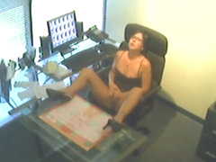Fingering at Bosses Desk