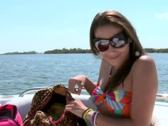 Look at Celeste Star messing around on motor boat