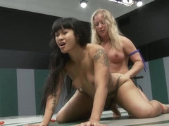Dragon Destroyed On The Mat Made To Cum During Wrestling She Is In Tears Trying Not To Cum - Publi.